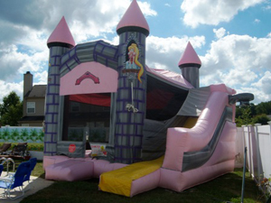 3-in-1 Bounce/Climb/Slide Pink Castle (PF)