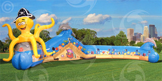 Children's Obstacle Course with Slide